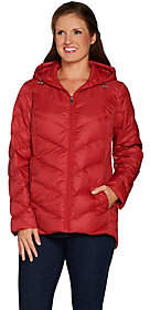 Susan Graver Quilted Packable Down Jacketwith Hood