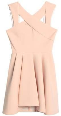 Maje Cutout Pleated Jersey Mini Dress