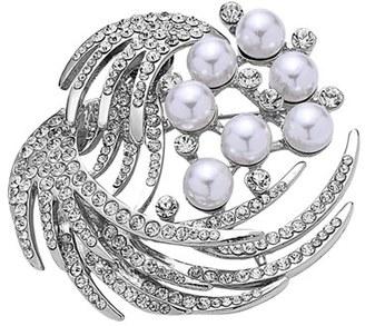 Women's Nina 'Waxing Moon' Crystal & Faux Pearl Brooch $55 thestylecure.com