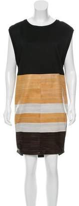 Calvin Klein Collection Eel-Paneled Knit Dress w/ Tags