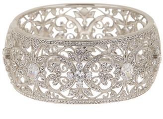 NADRI Ornate CZ Large Bangle Bracelet $200 thestylecure.com