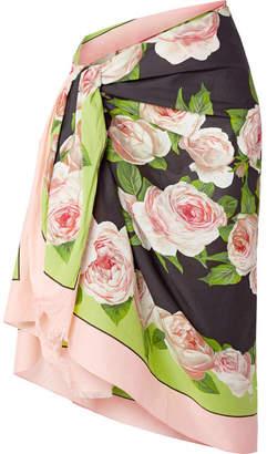 fd7a385683 Dolce & Gabbana Floral-print Cotton-voile Pareo - Black