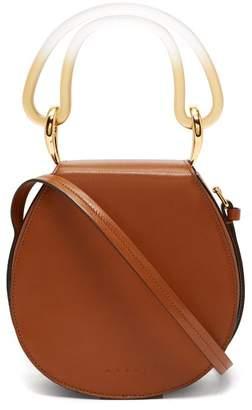 Marni Melville Saddle Leather Shoulder Bag - Womens - Tan