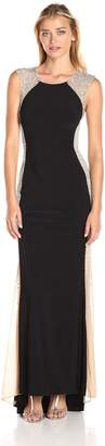Xscape Evenings Women's Long Ity Dress with Caviar Bead Sides