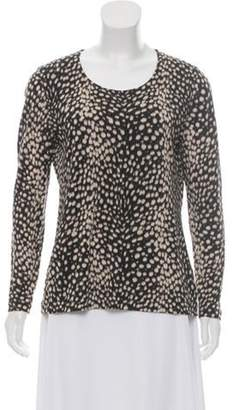 Akris Printed Cashmere & Silk Top Black Printed Cashmere & Silk Top
