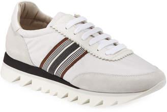 Brunello Cucinelli Nylon Techno Rubber Sneakers