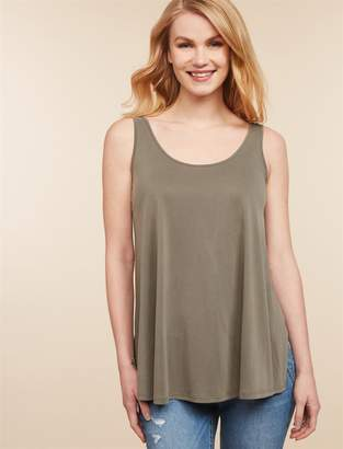 9803fe38471 Jessica Simpson Motherhood Maternity Side Access Back Interest Nursing Tank
