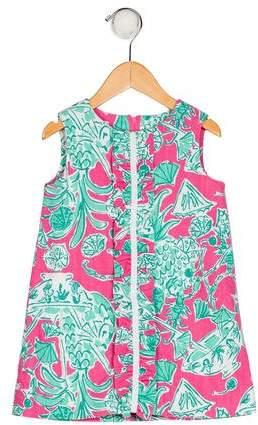 Lilly Pulitzer Girls' Printed Ruffle Dress