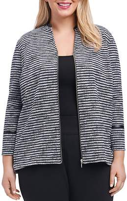 Foxcroft Plus Irina Sweater-Knit Jacket