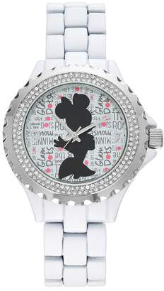 "Disney Disney's Minnie Mouse ""Glam Dots"" Women's Crystal Watch"