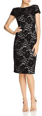 Adrianna Papell Rose Velvet Lace Sheath Dress