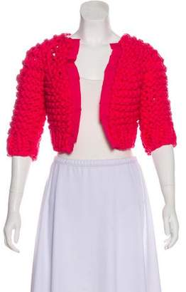 Nina Ricci Ribbon-Trimmed Knit Shrug