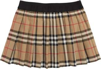 Burberry Mini Pansie Check Skirt