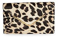 Anya Hindmarch Women's Leopard Print Calf Hair Envelope Clutch
