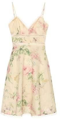 Zimmermann Iris cotton and linen minidress