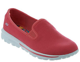 Skechers GOwalk Canvas Slip-on Sneakers - Cadence $51 thestylecure.com