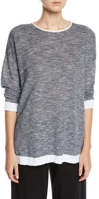 Eileen Fisher Organic Linen-Cotton Slub Top