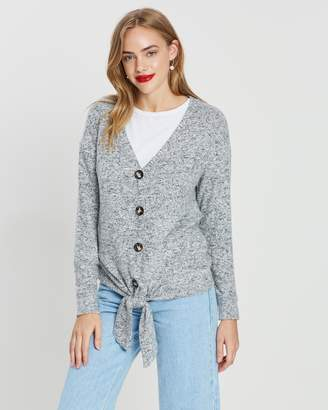 Dorothy Perkins Button-Through Tie Front Top