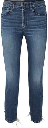 3x1 W3 Cropped Distressed High-rise Skinny Jeans - Mid denim