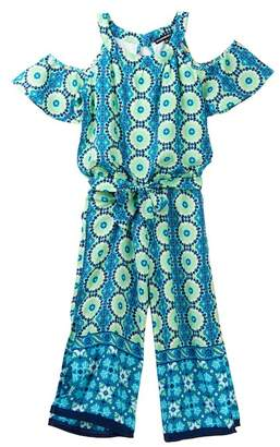 My Michelle mymichelle Printed Maxi Romper (Big Girls)