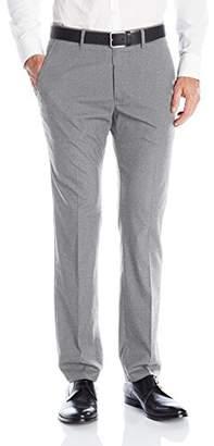 Kenneth Cole Reaction Men's Heather Flex-Waistband Flat-Front Slim-Fit Pant