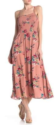 b15ab7bdcc3 Crimson in Grace Printed Smocked Bodice Maxi Dress
