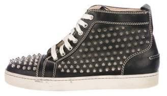 Christian Louboutin Louis Spike High-Top Sneakers