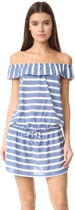 Splendid Off Shoulder Striped Dress $98 thestylecure.com