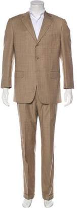 Pal Zileri Windowpane Wool Two-Piece Suit