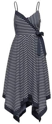 Banana Republic Stripe Strappy Handkerchief-Hem Dress