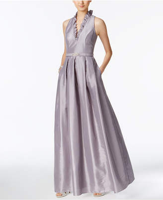 Jessica Howard Ruffled Belted Gown $149 thestylecure.com