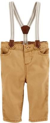 Osh Kosh Oshkosh Bgosh Baby Boy Twill Suspender Pants
