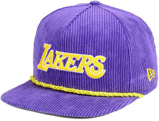 New Era Los Angeles Lakers Hardwood Classic Nights Cords 9FIFTY Snapback Cap