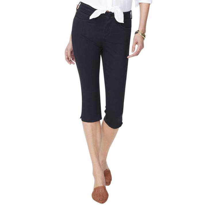 Black Skinny Capri Jeans