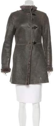 Fay Shearling Short Coat