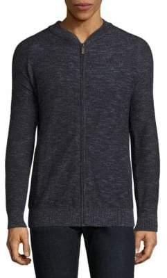 Barbour Linen-Blend Zip-Front Sweater