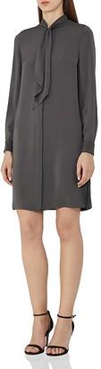 REISS Hue Tie-Neck Shirt Dress $330 thestylecure.com