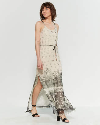 Chaser Tie-Dye Belted Maxi Dress