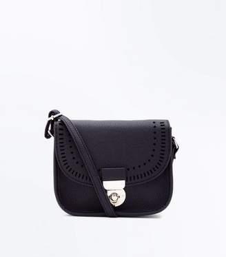 New Look Black Cut Out Cross Body Bag