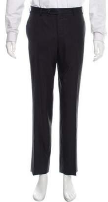 Canali Flat Front Super 150'S Wool Pants