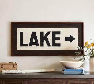 Pottery Barn Lake Sign