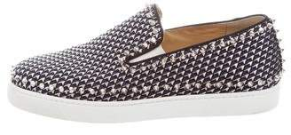 Christian Louboutin Pik Boat Spiked Slip-On Sneakers