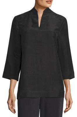 Eileen Fisher Silk Dupioni Top $268 thestylecure.com