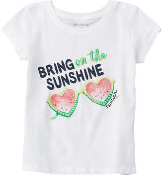 Nautica Girls' Watermelon Glasses T-Shirt