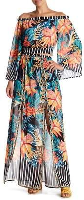 Flying Tomato Floral Slit Front Maxi Skirt