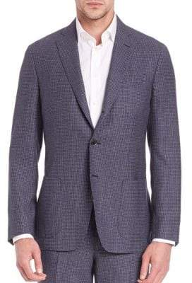 Saks Fifth Avenue COLLECTION Micro Checked Wool Jacket