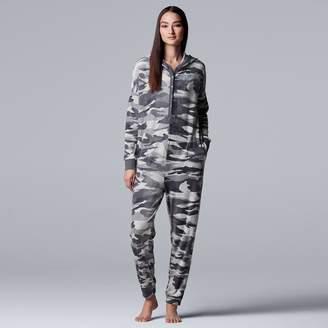 Vera Wang Women's Simply Vera Printed Plush One-Piece Pajamas