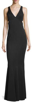 Zac Posen Jax Sleeveless V-Neck Mermaid Gown $790 thestylecure.com