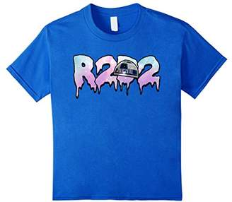 Star Wars R2-D2 Oozing Dripping Galaxy Logo Graphic T-Shirt