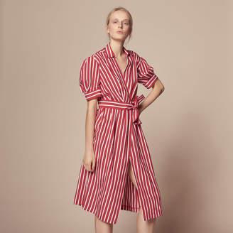 Sandro Striped wraparound dress